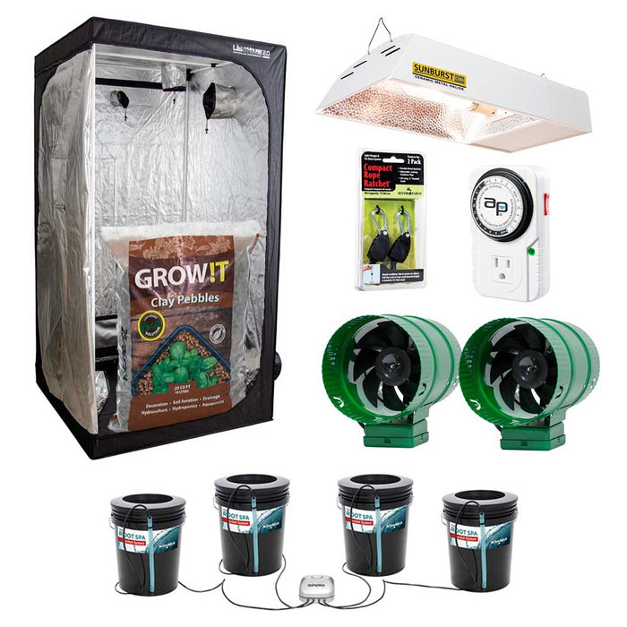 HF Hydroponics Grow Kit, 1-4 Plants