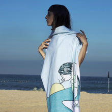 Load image into Gallery viewer, Surf Girl Beach Towel
