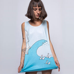 Ice Cream Wave Classic Fit Tank Top