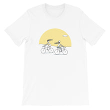 Load image into Gallery viewer, Sunset Cycling Unisex T-Shirt