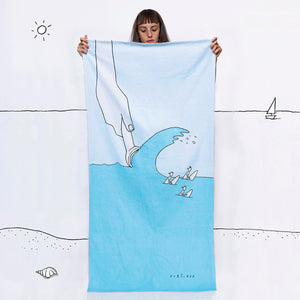 Ice Cream Wave beach towel