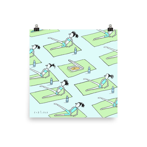 Yoga pizza print