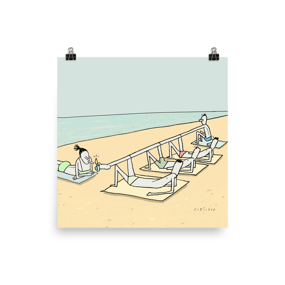 Beach lighter print