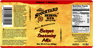 American Stockyard Burger Seasoning Mix