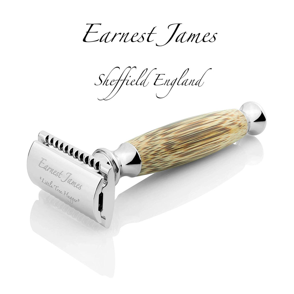 """ Little Tree Hugger "" - Extra Long Handle MK006 Safety Bamboo Razor - Earnest James Sheffield England"