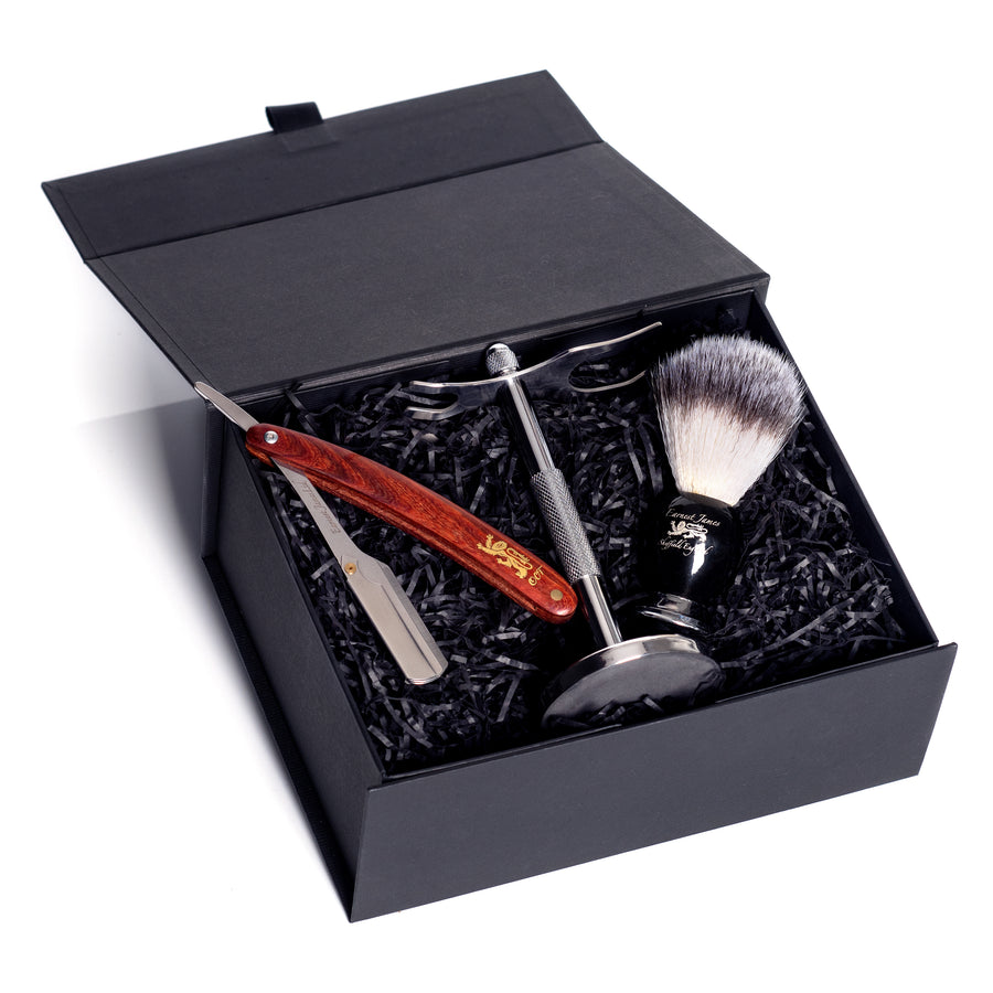 """The Oxford CutThroat""  Shavette Razor Gift Set"