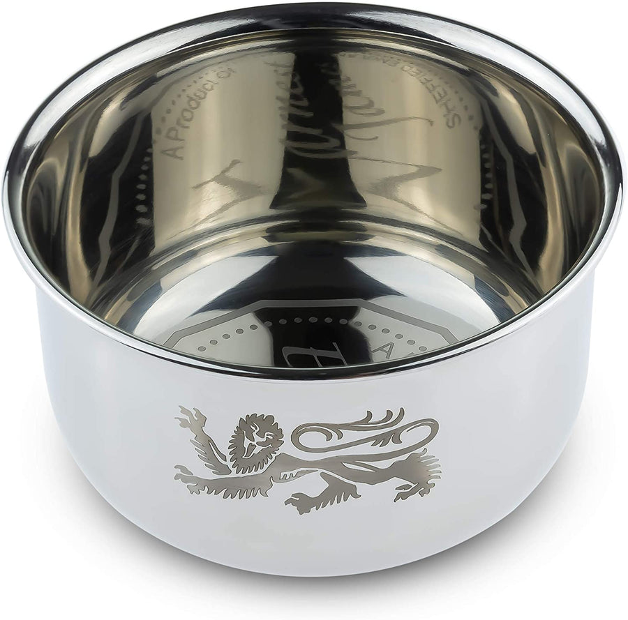 """ The Vulcan "" - Stainless Steel Shaving Bowl - Earnest James Sheffield England"