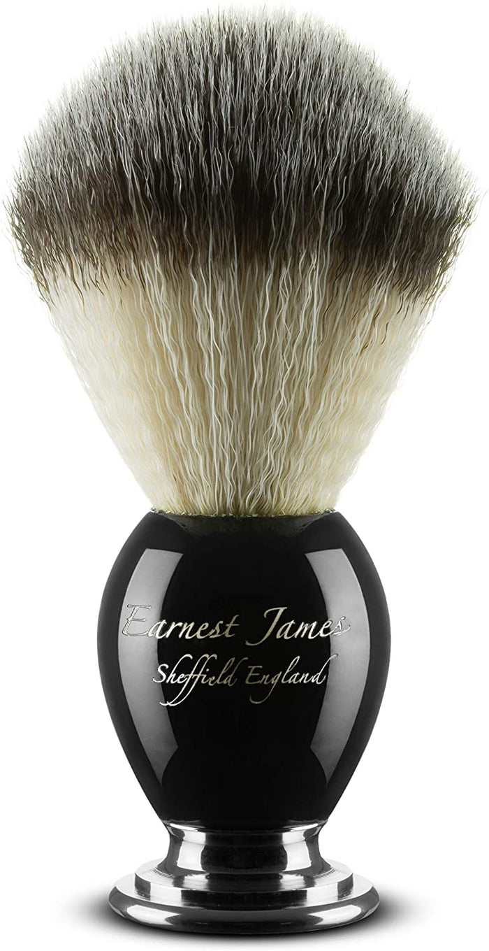 """ Phoenix Cluster – Black "" Shave Brush for Wet Shaving - Earnest James Sheffield England"