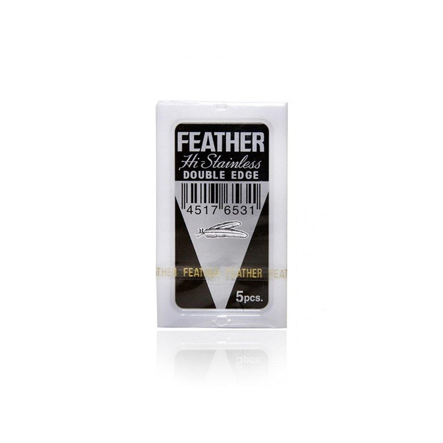 DOUBLE EDGE SAFETY RAZOR BLADES - Feather