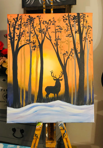 01-17-21 King of the Forest Paint & Sip Party