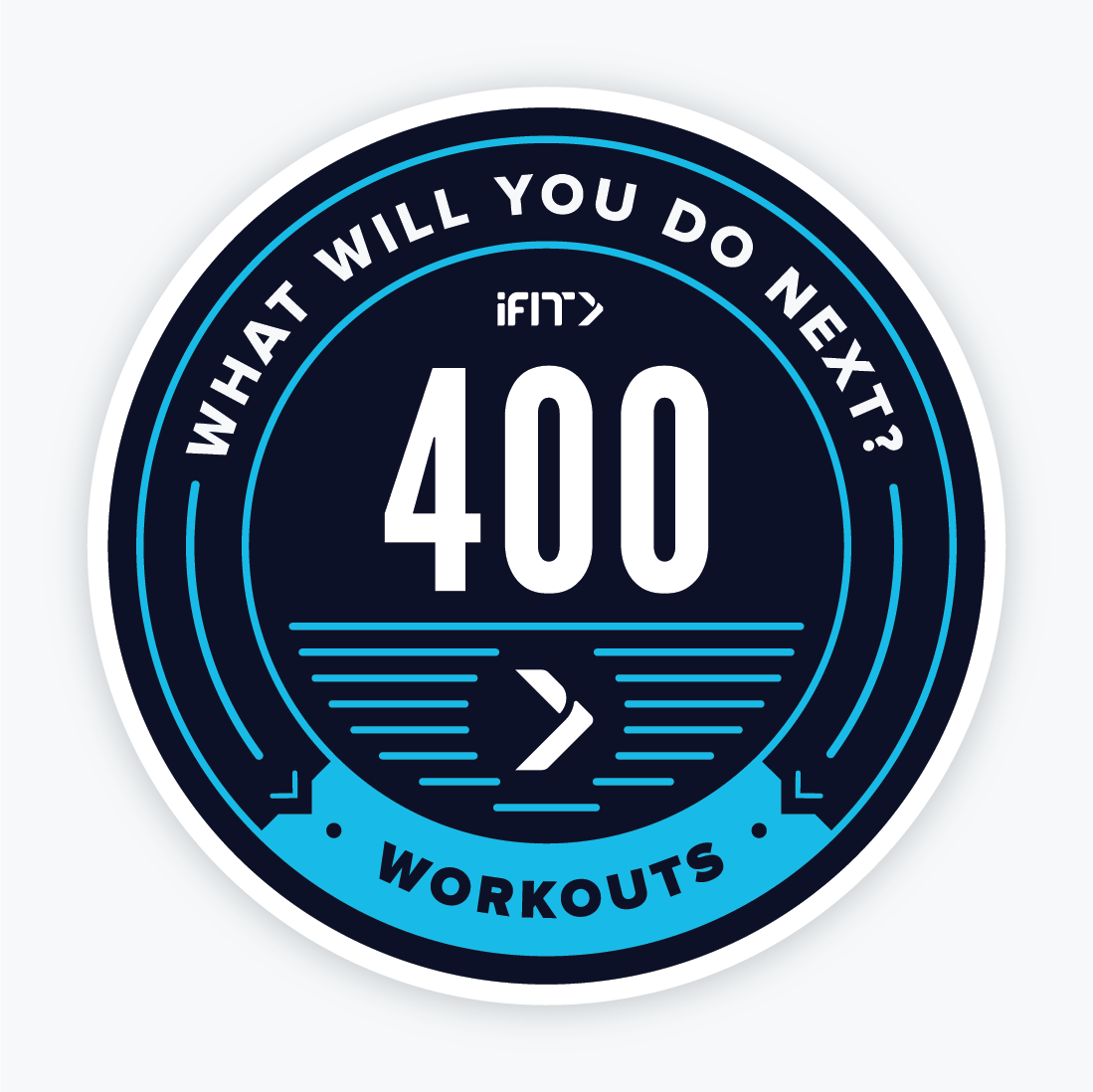 400 Workouts Magnet
