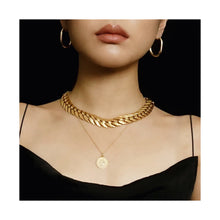 Load image into Gallery viewer, VINTAGE MONET MATTE GOLD-TONE CHAIN-LINK CHOKER NECKLACE