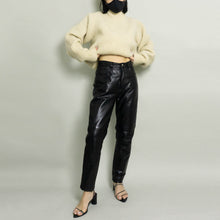 Load image into Gallery viewer, VINTAGE HIGH WAISTED LEATHER PANT | BLACK | 6P