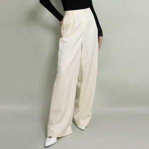 VINTAGE BROOKS BROTHER'S PLEATED DRESS PANT | IVORY | US 6