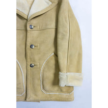 Load image into Gallery viewer, VINTAGE GENUINE SHEEPSKIN & SHEARLING COAT | TAN | S/M/L