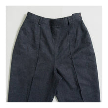 Load image into Gallery viewer, VINTAGE PINTUCK DRESS PANT | CHARCOAL GRAY HEATHER | US 4 PETITE