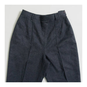 VINTAGE PINTUCK DRESS PANT | CHARCOAL GRAY HEATHER | US 4 PETITE