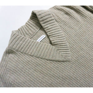 VINTAGE RIBBED V-NECK SWEATER | BEIGE | S/M