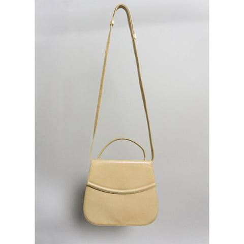 VINTAGE BALLY LEATHER TOP-HANDLE CROSSBODY BAG | TAN