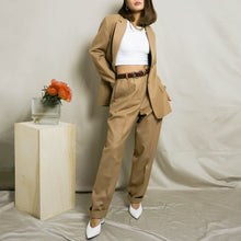Load image into Gallery viewer, 1990's WOOL PANT SUIT | CAMEL | S/M