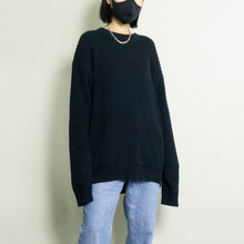 Load image into Gallery viewer, VINTAGE GANT COTTON RIBBED KNIT SWEATER | DARK NAVY | S/M/L