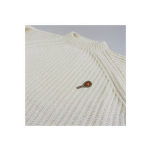 Load image into Gallery viewer, VINTAGE HAND-KNIT RIBBED NOVELTY TENNIS SWEATER | IVORY | S/M