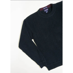 VINTAGE GANT COTTON RIBBED KNIT SWEATER | DARK NAVY | S/M/L