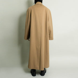 VINTAGE OVERSIZED DOUBLE BREASTED WOOL OVERCOAT |  CAMEL | S-XL