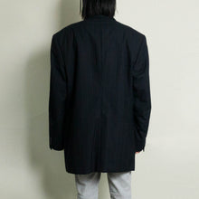 Load image into Gallery viewer, VINTAGE YVES SAINT LAURENT OVERSIZED PINSTRIPED BLAZER | BLACK | S/M/L