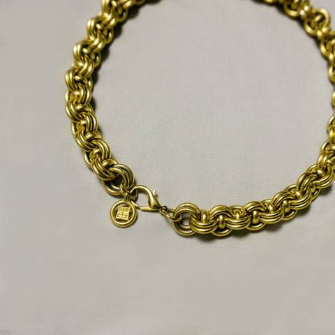 VINTAGE GIVENCHY GOLD-PLATED ROPE CHAIN CHOKER NECKLACE