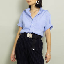 Load image into Gallery viewer, VINTAGE YVES SAINT LAURENT CLASSIC SHORT SLEEVE SHIRT | LT BLUE | S/M/L