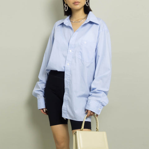 VINTAGE DIOR OVERSIZED BUTTON UP SHIRT | BLUE | S - XL