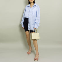 Load image into Gallery viewer, VINTAGE CHRISTIAN DIOR OVERSIZED BUTTON UP SHIRT | BLUE | S - XL