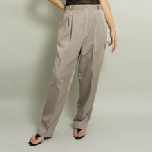 Load image into Gallery viewer, VINTAGE HIGH WAISTED PLEATED DRESS PANTS | LT GREIGE | US 10-12