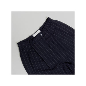 VINTAGE MAX MARA HIGH-WAISTED PINSTRIPE DRESS PANT | NAVY | 28W