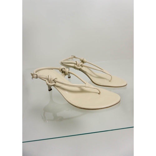 DIOR RARE KNOTTED SANDALS | CHAMPAGNE | US 7 1/2