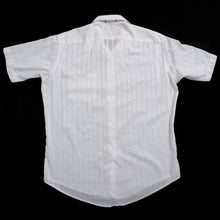Load image into Gallery viewer, VINTAGE CHRISTIAN DIOR STRIPED SHORT SLEEVE SHIRT | WHITE | S/M/L
