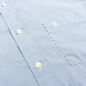 VINTAGE CHRISTIAN DIOR OVERSIZED BUTTON UP SHIRT | BLUE | S - XL