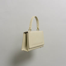 Load image into Gallery viewer, RARE VINTAGE LEATHER TOP HANDLE BAG | CREAM
