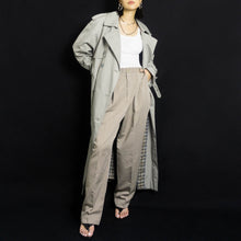 Load image into Gallery viewer, VINTAGE OVERSIZED BELTED TRENCH COAT | GREY | S/M/L
