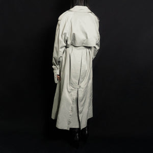 VINTAGE OVERSIZED BELTED TRENCH COAT | GREY | S/M/L