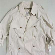 Load image into Gallery viewer, VINTAGE OVERSIZED TRENCH COAT WITH WINTER LINER | BONE WHITE | S/M/L