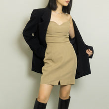 Load image into Gallery viewer, VINTAGE CLAUDE MONTANA MINI DRESS | BEIGE | XS