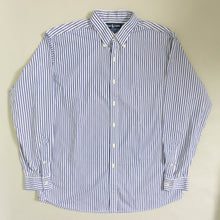 Load image into Gallery viewer, VINTAGE RALPH LAUREN STRIPED BUTTON DOWN SHIRT | BLUE/WHITE | S - XL