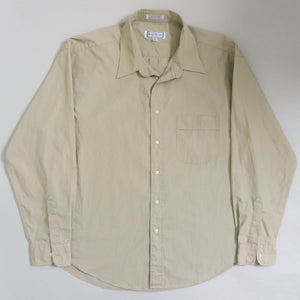 VINTAGE YVES SAINT LAURENT OVERSIZED BUTTON UP SHIRT | TAN | S - XL