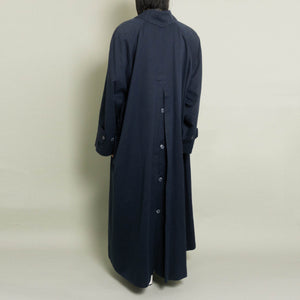 VINTAGE KARL LAGERFELD OVERSIZED MAC | NAVY | S-XL