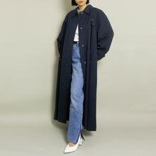 Load image into Gallery viewer, VINTAGE KARL LAGERFELD OVERSIZED MAC | NAVY | S-XL