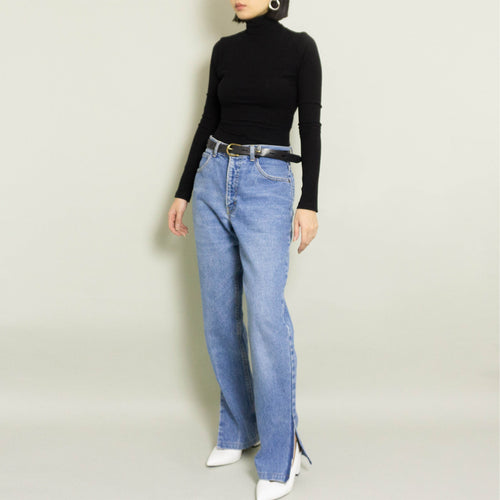 RE-WORKED VINTAGE CALVIN KLEIN STRAIGHT LEG JEAN | MEDIUM WASH | US 10