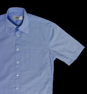 VINTAGE YVES SAINT LAURENT CLASSIC SHORT SLEEVE SHIRT | LT BLUE | S/M/L
