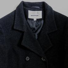 Load image into Gallery viewer, 1980's BILL BLASS LONG LAMB'S WOOL & CASHMERE COAT | DK CHARCOAL GRAY | S / M / L - TALL